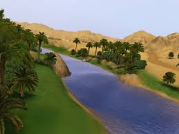 river in desert